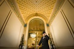 Mayflower Park Hotel doorman